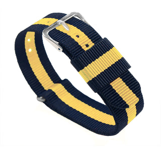 Load image into Gallery viewer, Navy & Lemon | Nylon NATO Style NATO Style Nylon Strap Barton Watch Bands