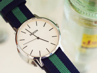 Load image into Gallery viewer, Navy & Shamrock | Nylon NATO Style NATO Style Nylon Strap Barton Watch Bands