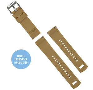 Pebble Smart Watches | Elite Silicone | Brown Top / Khaki Bottom Pebble Band Barton Watch Bands