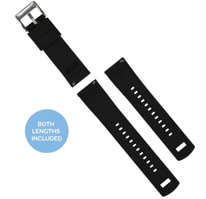 Pebble Smart Watches | Elite Silicone | White Top / Black Bottom Pebble Band Barton Watch Bands
