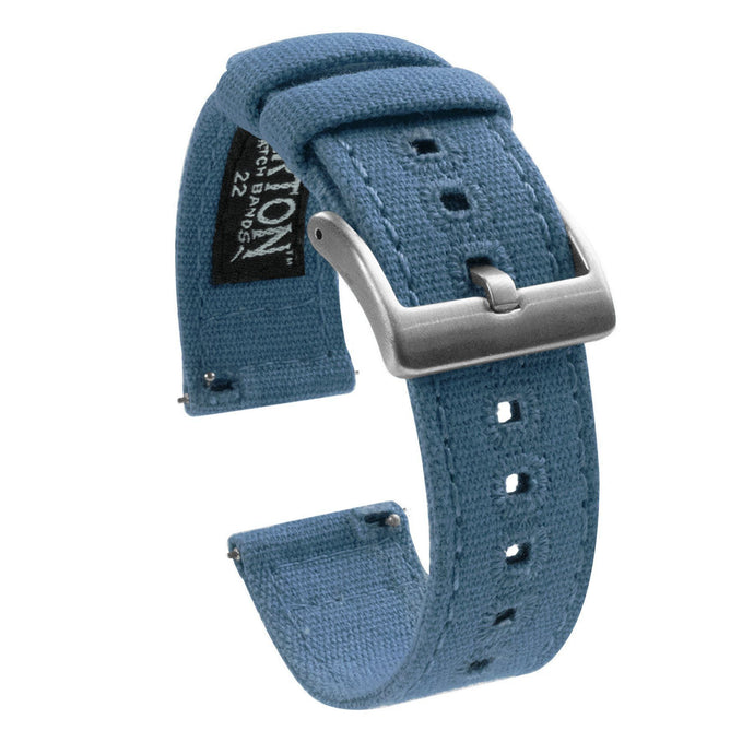 Pebble Smart Watches | Nantucket Blue Canvas Pebble Band Barton Watch Bands Pebble Classic | Time | Time Steel (22mm band)