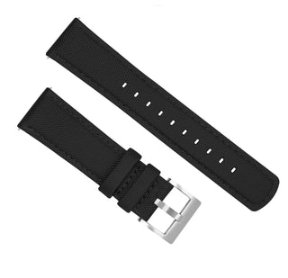 Load image into Gallery viewer, Pebble Smart Watches | Sailcloth Quick Release | Black Pebble Band Barton Watch Bands
