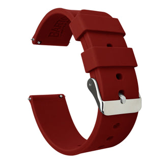 Load image into Gallery viewer, Pebble Smart Watches | Silicone | Crimson Red Pebble Band Barton Watch Bands Pebble Classic | Time | Time Steel (22mm band)