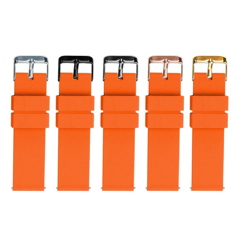 Pumpkin Orange | Soft Silicone Quick Release Silicone Watch Band Barton Watch Bands