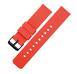 Roarange | Soft Silicone Quick Release Silicone Watch Band Barton Watch Bands 16mm Black