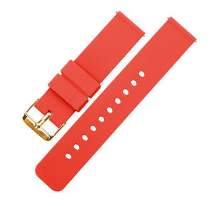 Roarange | Soft Silicone Quick Release Silicone Watch Band Barton Watch Bands 16mm Gold