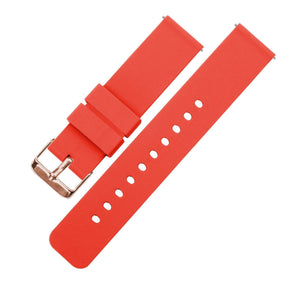 Roarange | Soft Silicone Quick Release Silicone Watch Band Barton Watch Bands 16mm Rose Gold