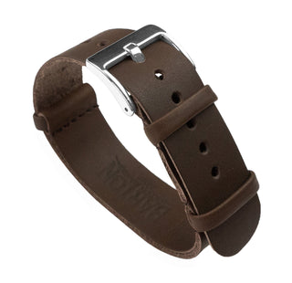 Load image into Gallery viewer, Saddle Brown | Leather NATO Style Leather NATO Style Barton Watch Bands