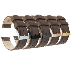 Saddle Leather | Saddle Stitching Quick Release Leather Watch Bands Barton Watch Bands