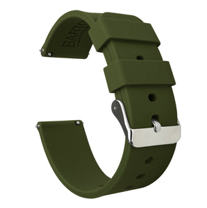 Samsung Galaxy Watch Active 2 | Silicone | Army Green Samsung Galaxy Watch Active 2 Barton Watch Bands Stainless Steel