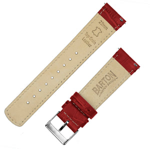 Samsung Galaxy Watch Active | Crimson Red Alligator Grain Leather Samsung Galaxy Watch Active Barton Watch Bands
