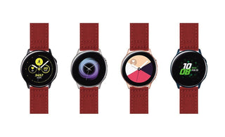 Load image into Gallery viewer, Samsung Galaxy Watch Active | Crimson Red Canvas Samsung Galaxy Watch Active Barton Watch Bands