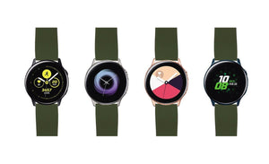 Samsung Galaxy Watch Active | Elite Silicone | Army Green Top / Black Bottom - Barton Watch Bands