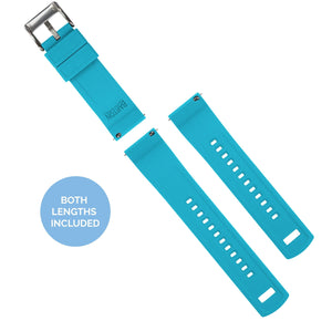 Samsung Galaxy Watch Active | Elite Silicone | Black Top / Aqua Blue Bottom - Barton Watch Bands
