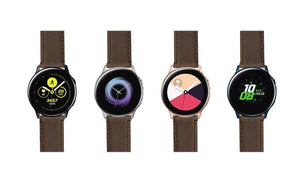 Samsung Galaxy Watch Active | Saddle Brown Leather & Stitching Samsung Galaxy Watch Active Barton Watch Bands
