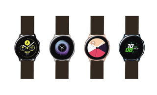 Load image into Gallery viewer, Samsung Galaxy Watch Active | Silicone | Chocolate Brown Samsung Galaxy Watch Active Barton Watch Bands