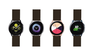 Samsung Galaxy Watch Active | Silicone | Chocolate Brown Samsung Galaxy Watch Active Barton Watch Bands