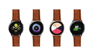 Load image into Gallery viewer, Samsung Galaxy Watch Active | Toffee Brown Alligator Grain Leather Samsung Galaxy Watch Active Barton Watch Bands