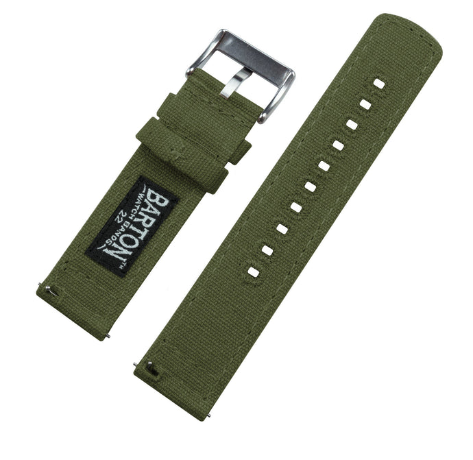 Samsung Galaxy Watch | Army Green Canvas Samsung Galaxy Watch Barton Watch Bands