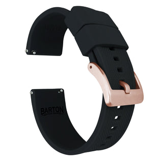 Load image into Gallery viewer, Samsung Galaxy Watch | Elite Silicone | Black Samsung Galaxy Watch Barton Watch Bands 42mm Galaxy Watch Rose Gold Standard