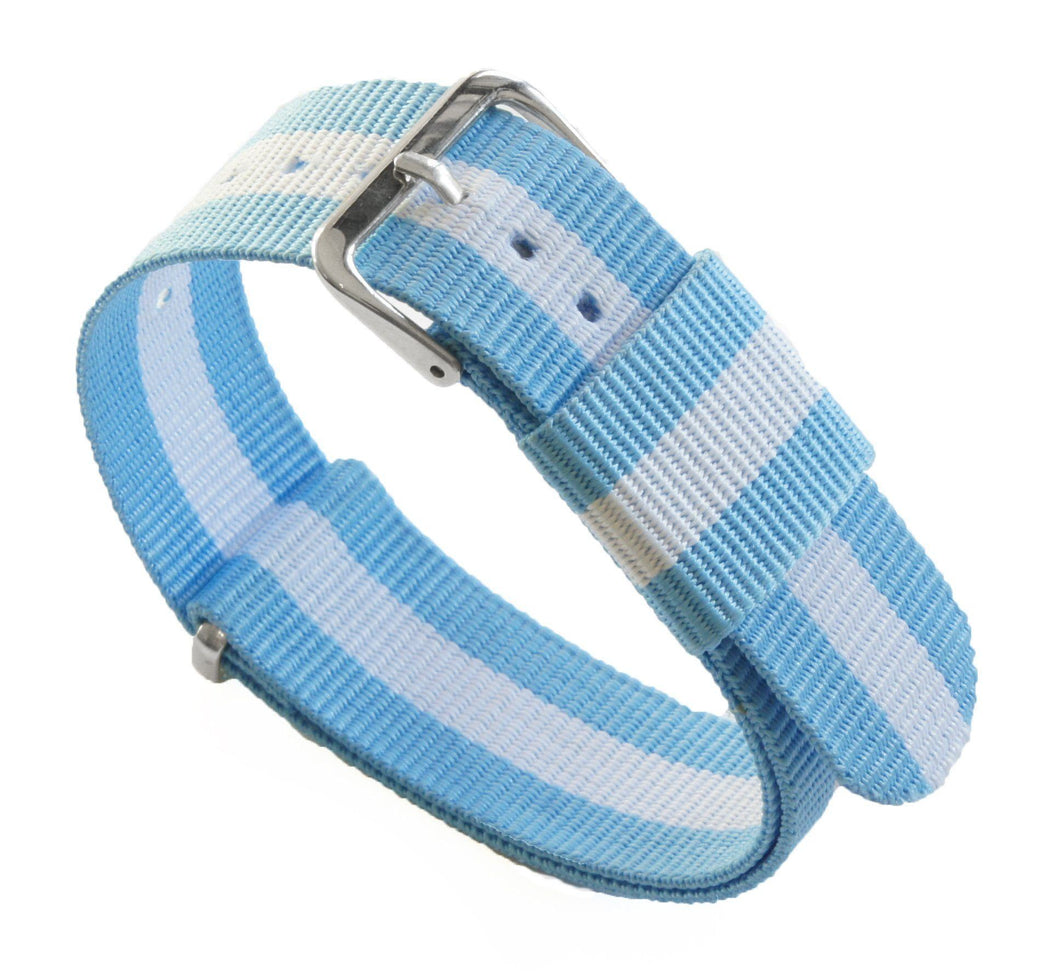 Sky & Ivory | Nylon NATO Style - Barton Watch Bands