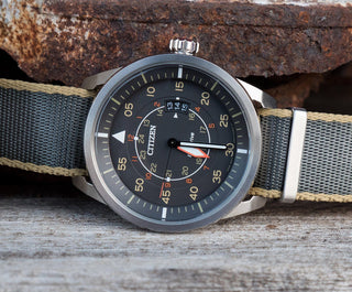 Load image into Gallery viewer, Slate Grey - Tan Edges | Jetson NATO Style Jetson NATO Style Strap Barton Watch Bands