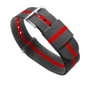 Load image into Gallery viewer, Smoke & Cherry | Nylon NATO Style NATO Style Nylon Strap Barton Watch Bands