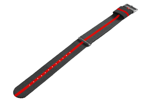 Smoke & Cherry | Nylon NATO Style NATO Style Nylon Strap Barton Watch Bands