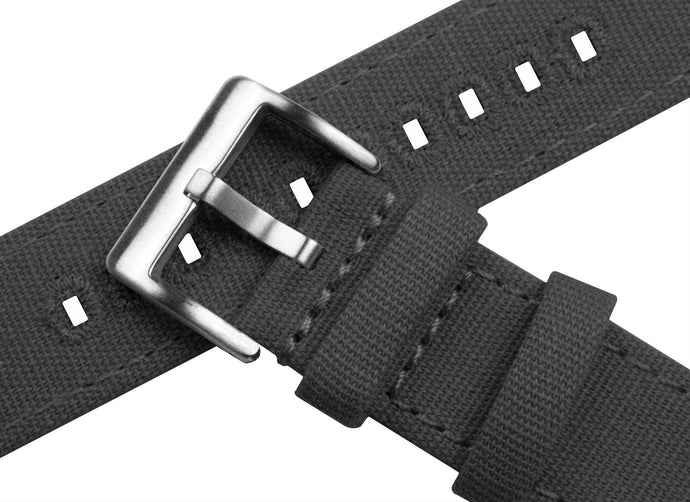 Smoke Grey | Crafted Canvas Canvas Quick Release Barton Watch Bands