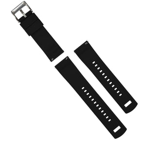 Smoke Grey Top / Black Bottom | Elite Silicone Elite Silicone Barton Watch Bands