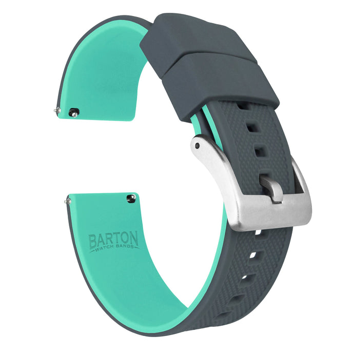 Smoke Grey Top / Mint Green Bottom | Elite Silicone Elite Silicone Barton Watch Bands