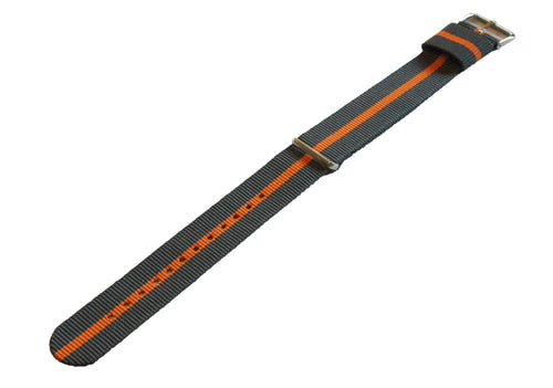 Smoke & Pumpkin | Nylon NATO Style - Barton Watch Bands