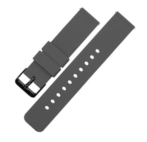 Smokey Grey | Soft Silicone Quick Release Silicone Watch Band Barton Watch Bands 16mm Black