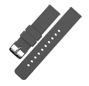 Smokey Grey | Soft Silicone Quick Release Silicone Watch Band Barton Watch Bands 16mm Gunmetal Grey