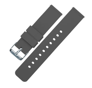 Load image into Gallery viewer, Smokey Grey | Soft Silicone Quick Release Silicone Watch Band Barton Watch Bands 16mm Stainless Steel