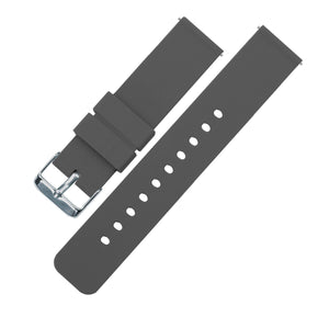 Smokey Grey | Soft Silicone Quick Release Silicone Watch Band Barton Watch Bands 16mm Stainless Steel