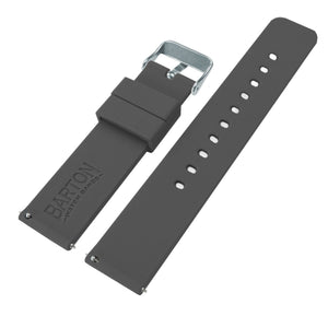 Smokey Grey | Soft Silicone Quick Release Silicone Watch Band Barton Watch Bands