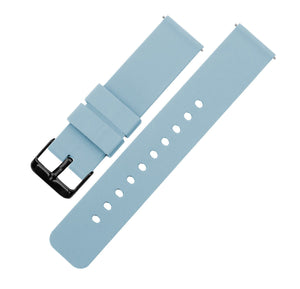 Soft Blue | Soft Silicone Quick Release Silicone Watch Band Barton Watch Bands 16mm Black