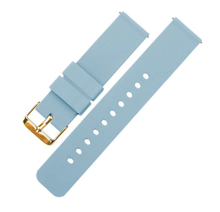 Load image into Gallery viewer, Soft Blue | Soft Silicone Quick Release Silicone Watch Band Barton Watch Bands 16mm Gold