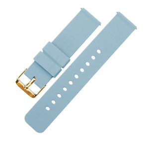 Soft Blue | Soft Silicone Quick Release Silicone Watch Band Barton Watch Bands 16mm Gold