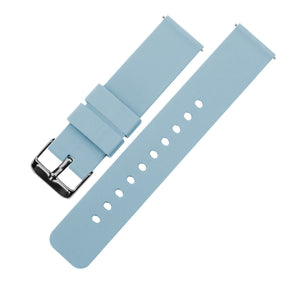 Soft Blue | Soft Silicone Quick Release Silicone Watch Band Barton Watch Bands 16mm Gunmetal Grey