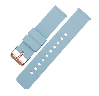 Load image into Gallery viewer, Soft Blue | Soft Silicone Quick Release Silicone Watch Band Barton Watch Bands 16mm Rose Gold