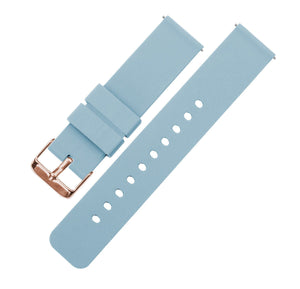 Soft Blue | Soft Silicone Quick Release Silicone Watch Band Barton Watch Bands 16mm Rose Gold