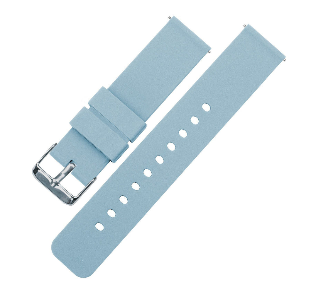 Soft Blue | Soft Silicone Quick Release Silicone Watch Band Barton Watch Bands 16mm Stainless Steel