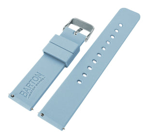 Soft Blue | Soft Silicone Quick Release Silicone Watch Band Barton Watch Bands