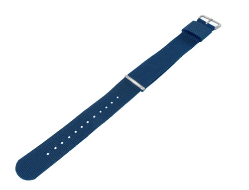 Steel Blue | Nylon NATO Style NATO Style Nylon Strap Barton Watch Bands