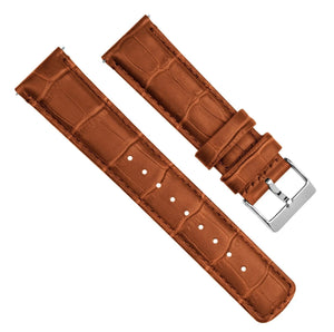 Toffee Brown | Alligator Grain Leather Quick Release Leather Watch Bands Barton Watch Bands