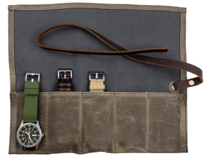 Watch Roll | Waxed Canvas - Barton Watch Bands