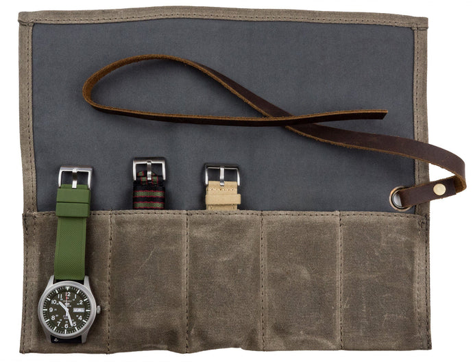 Watch Roll | Waxed Canvas Hardware Barton Watch Bands