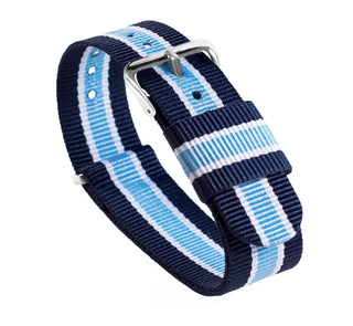 Load image into Gallery viewer, Well Aware | Navy, Sky & Ivory | Nylon NATO Style NATO Style Nylon Strap Barton Watch Bands